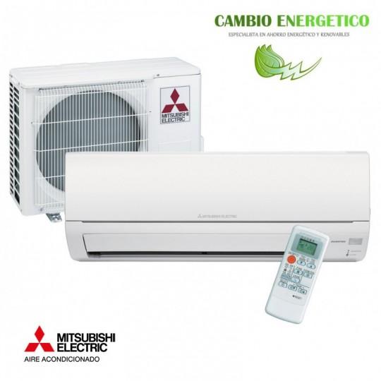 Aire acondicionado mitsubishi msz hj25va bajo consumo for Consumo de aire acondicionado