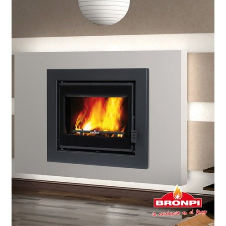 Chimenea insertable de pellet bronpi damasco de 10 kw for Chimenea de pellets insertables