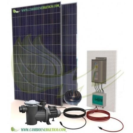Kit autoinstalable de depuradora solar para piscinas.