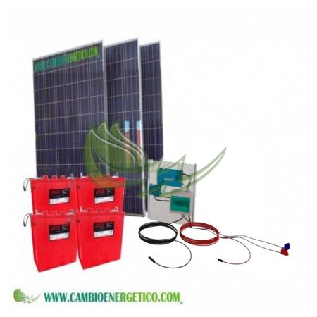 KIT SOLAR VICTRON CENTENNIAL 4800/2400 W/DIA PARA CONSUMOS BASICOS DE VIVIENDA Y BOMBA DE AGUA DE 1CV