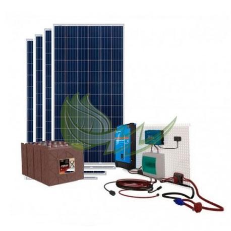 KIT SOLAR VICTRON 6800/3400 W/DIA PARA CONSUMOS BASICOS DE VIVIENDA Y BOMBA DE AGUA DE 1CV