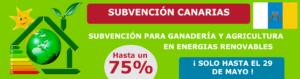 CANARIAS SUBVENCIONA ENERGÍAS RENOVABLES PARA LA GANADERIA Y AGRICULTURA