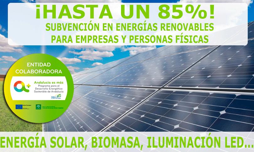 SUBVENCIONES PARA ENERGÍAS RENOVABLES Y EFICIENCIA ENERGÉTICA EN ANDALUCÍA