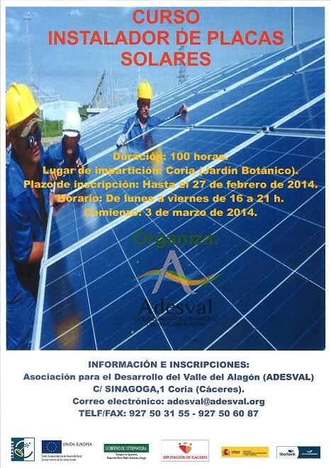 Curso t cnico instalador placas solares cambio energetico - Instalador de placas solares ...