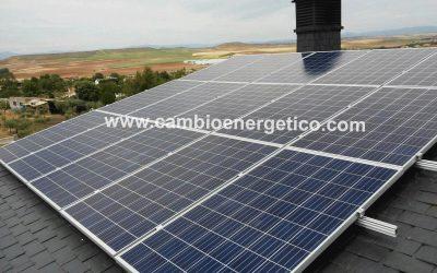 Instalación solar aislada de la red Madrid