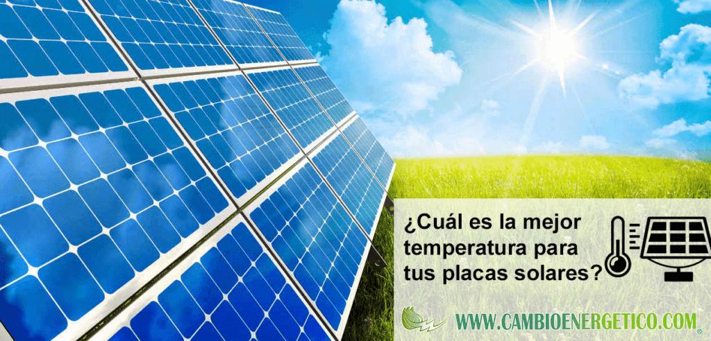 Placas solares temperatura