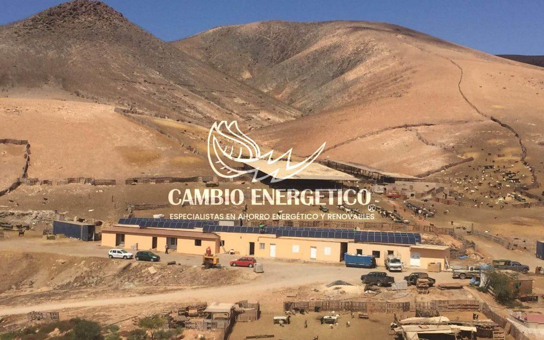 Instalación solar aislada de la red Canarias