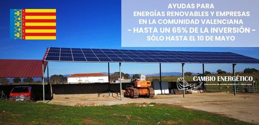 ayudas energias renovables comunidad valenciana 2019