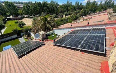 Instalación residencial de placas solares en las Rozas