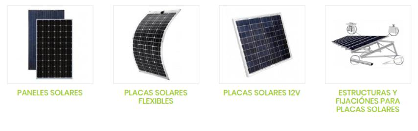 tipos placas solares
