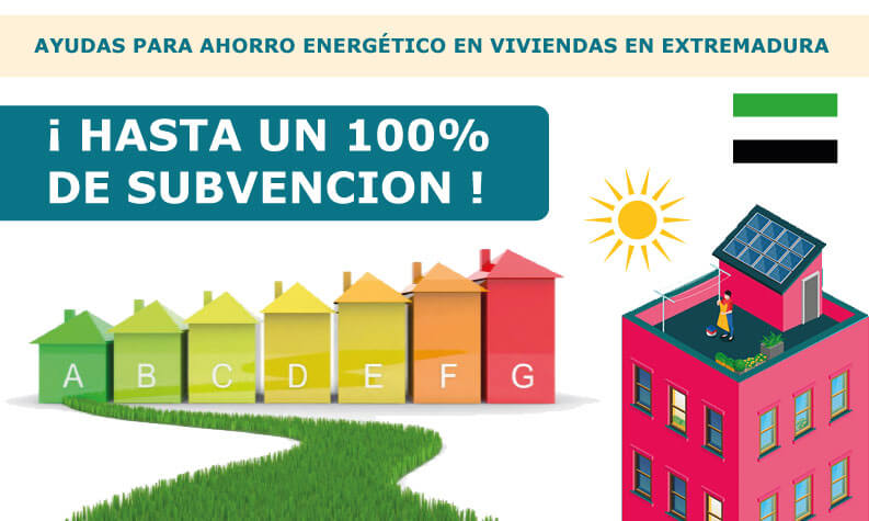 subvención extremadura placas solares 2019