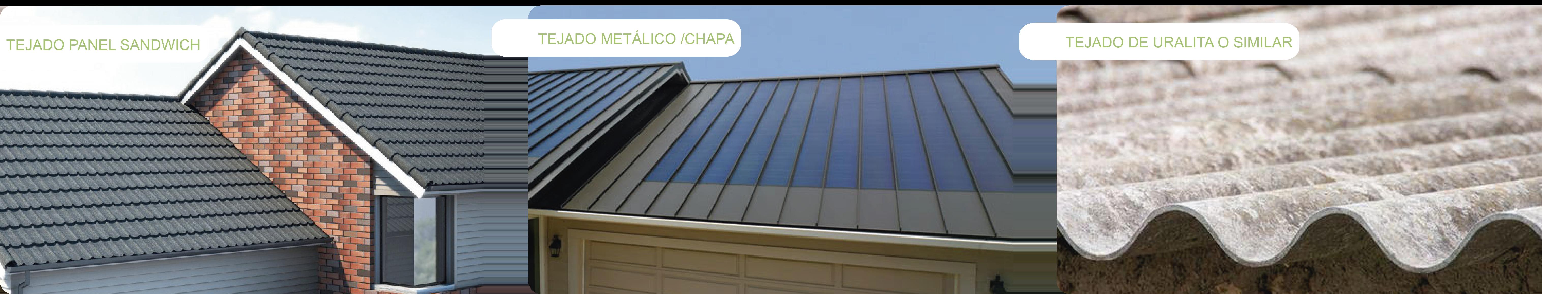 Kits de fijaciones para tejados o cubiertas metálicas inclinadas de Cambio Energético.