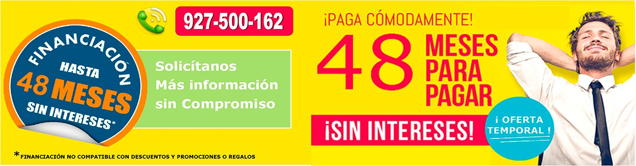 Financiación hasta 48 meses sin intereses
