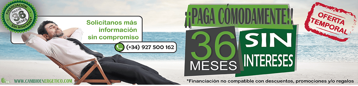 Financiación hasta 36 meses sin intereses