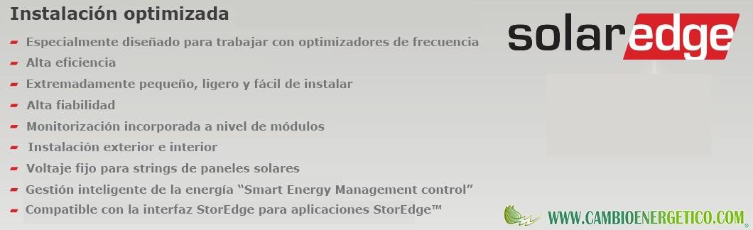 Información inversores SolarEdge