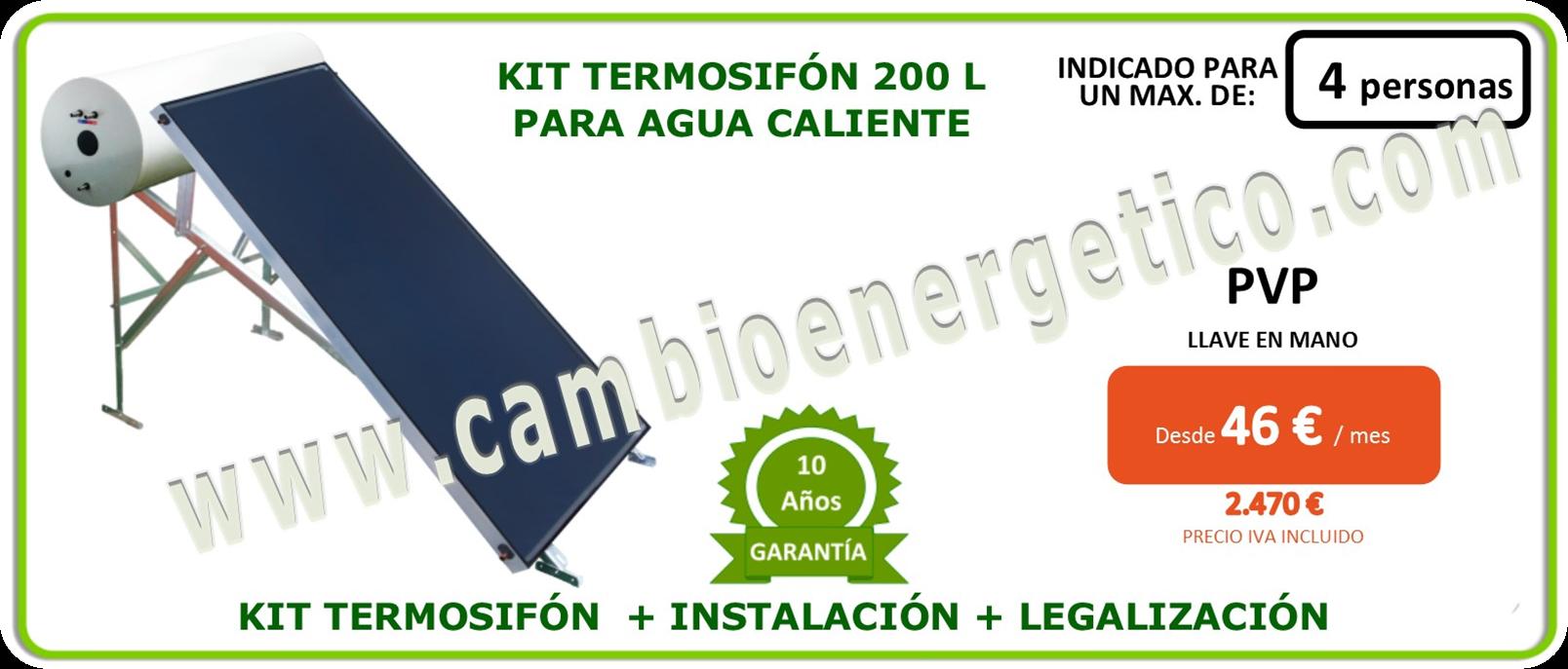 Kit termosifon 200 l