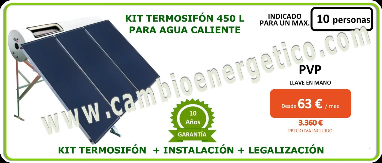Kit termosifon 450 l