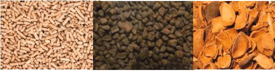 estufa pellets, hueso y cascara