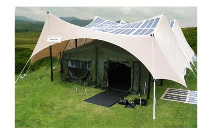 Placa solar para camping