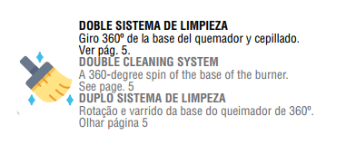 Sistema doble limpieza bronpi