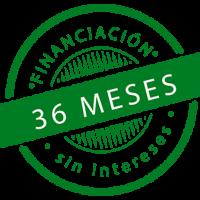Finaciación 36 meses sin intereses